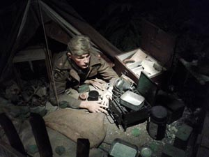 Allied soldier in his tent, D-Day Museum, Portsmouth