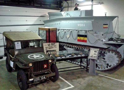 Military vehicles at the D-Day Museum in Portsmouth.