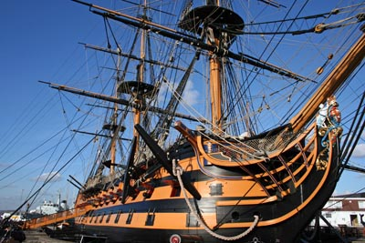 HMS Victory, part of the historic ships collection at Portsmouth Dockyard
