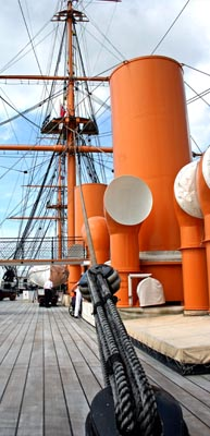 HMS Warrior at the Historic Dockyard