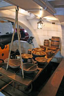 Below decks.