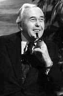 Prime Minister Harold Wilson, who landed at Portsmouth Airport in 1973