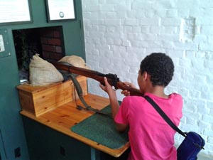 Interactive displays at Fort Nelson Museum, Portsmouth