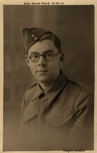 Photo of John Marsh Welch, 25/04/1941, photo taken by Empire Studios.