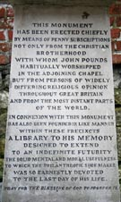John Pounds Memorial stone inscription.