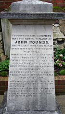 John Pounds memorial stone in Old Portsmouth