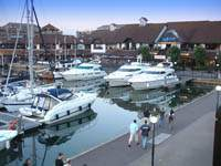 Photo of boats moored at Port Solent.