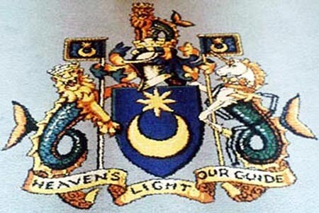 Star and Crescent, City of Portsmouth Coat Of Arms