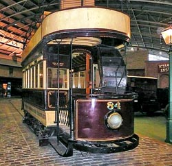 A Portsmouth Corporation Tram at the Milestones Museum, Basingstoke.