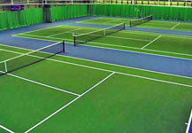 Photo of the tennis courts at Priory School, Portsmouth.