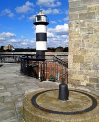 The lighthouse at Southsea Castle in Portsmouth