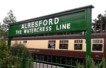Alresford Station part of the Watercress Line in Hampshire