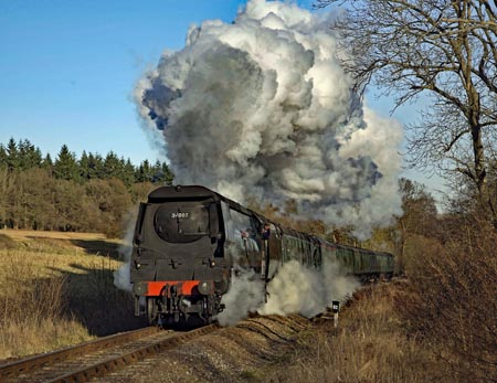 The Watercress Line steam railway at Alresford in Hampshire