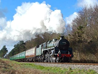 The Watercress Line steam railway in Hampshire