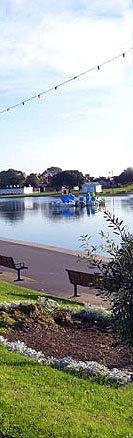 View of Canoe Lake in Southsea, Hampshire