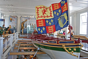 The Royal Naval Museum at Portsmouth Historic Dockyard. Royal barge.