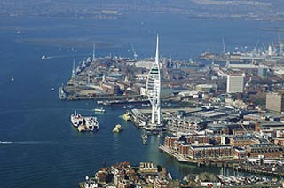 Views from the Spinnaker Tower, Portsmouth