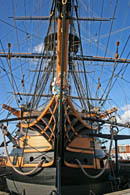 Bow view of HMS Victory at Portsmouth